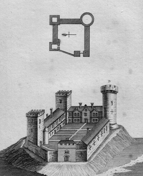 1784 print of the castle