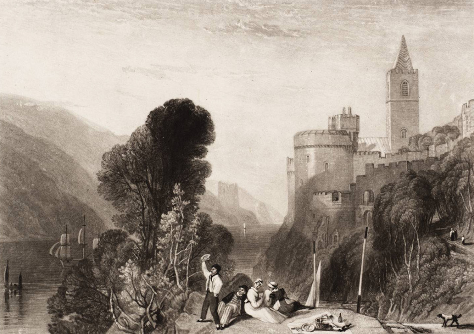 Dartmouth Castle, on the River Dart 'The Rivers of England' 1824 © Tate, London