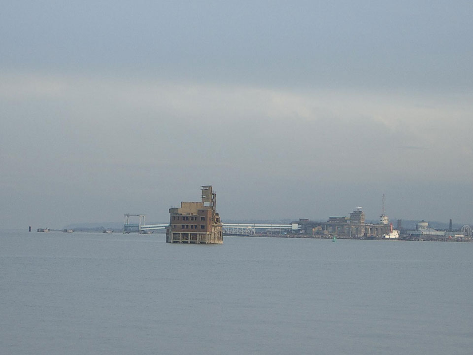 Grain Tower with Sheerness Fort in background