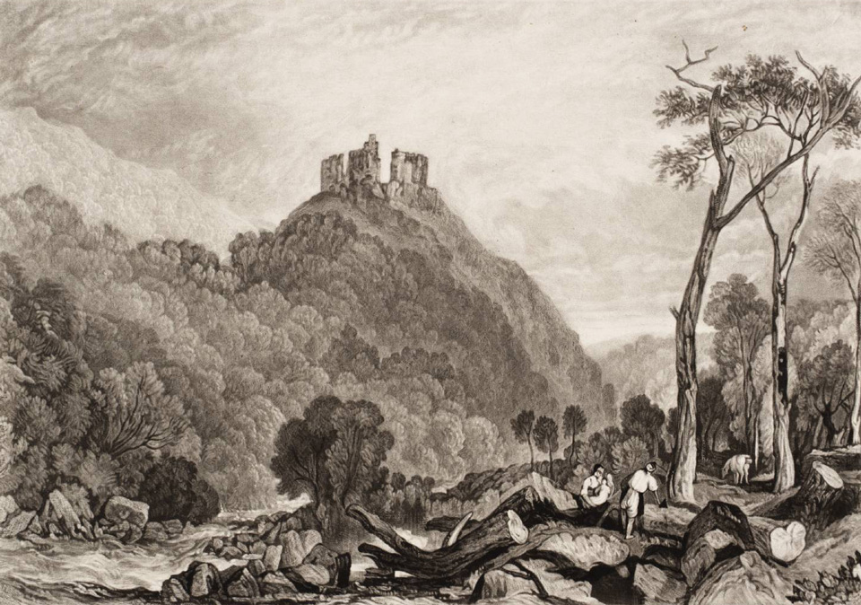 Okehampton Castle, on the River Okement 'The Rivers of England' 1825 © Tate, London