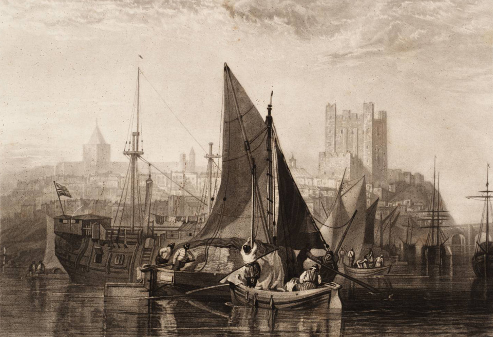 Rochester Castle, on the River Medway 'The Rivers of England' 1824 © Tate, London
